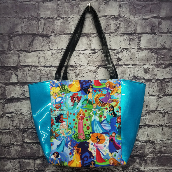 Top Notch Tote-  Vinyl Dancing Gardens