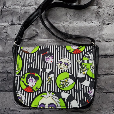 Crossroads Crossbody Bag- BeetleJuice Striped