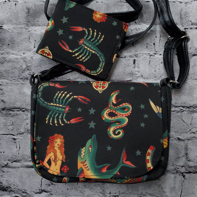 Crossroads Crossbody Bag & NJFM- Sailor Tattoo (Scorpion)
