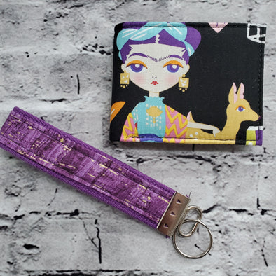 NJFM & Keyfob- Purple Hair Frida