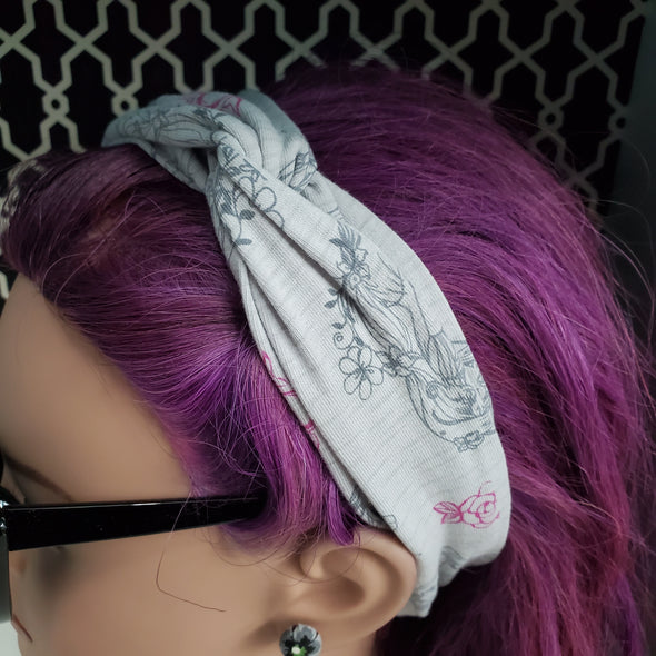 Turban Headband- Grey Princess