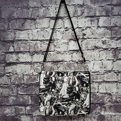 Amelia Bag- Black&White Vintage Starwars