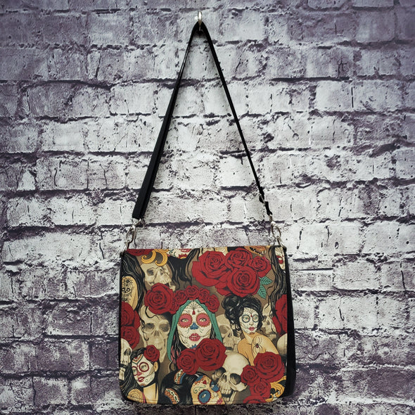 Amelia Bag- Vintage Day of the Dead Pinup
