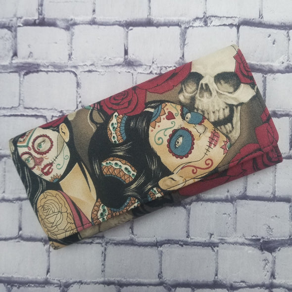Wallet - Vintage Day of the Dead Pinup (snake&skull)