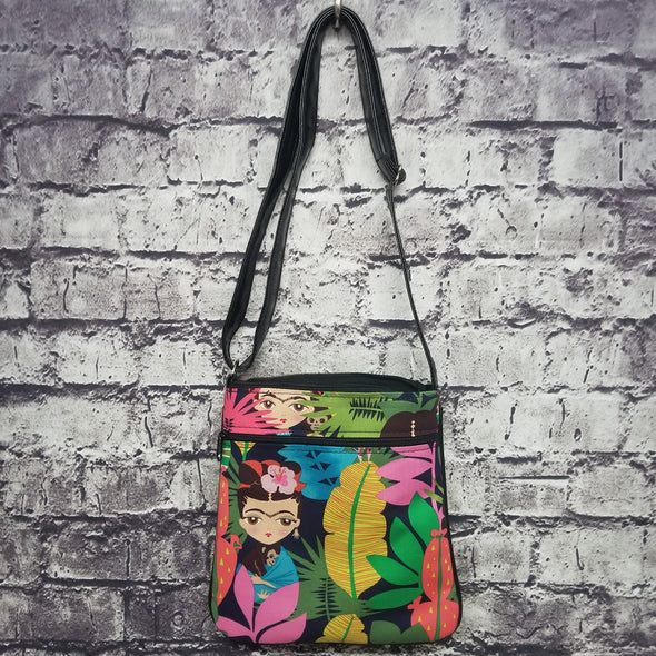 Crossbody- Cartoon Tropical Frida