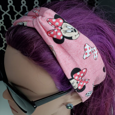 Turban Headband- Pink Minnie