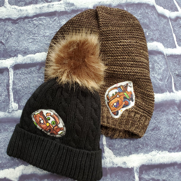 Mommy & Me Beanie Set- Tow Mater