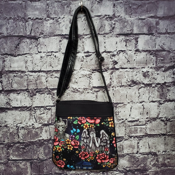 Crossbody -Dr Who Floral