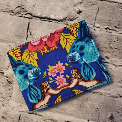 Not Just For Men (NJFM) Wallet - Cabbage Rose & Mermaid