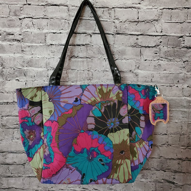 Top Notch Tote & Hand Sanitizer Holder- Lotus Leaf