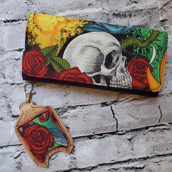 Wallet & Hand Sanitizer Holder- Seize the Night
