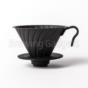 V60 Metal Coffee Dripper Matt Black 02