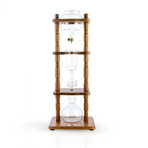 Yama 6-8 Cup Cold Drip Maker Brown Wood Frame
