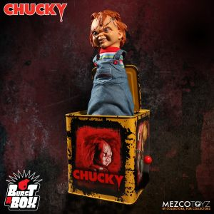 Child's Play Scarred Chucky Burst a Box Jack-in-the-Box