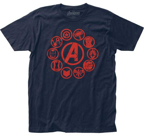 AVENGERS ICONS FITTED JERSEY T-SHIRT