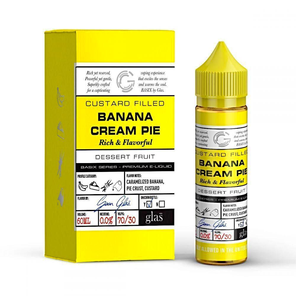 GLAS Basix Banana Cream Pie 60ml Vape Juice