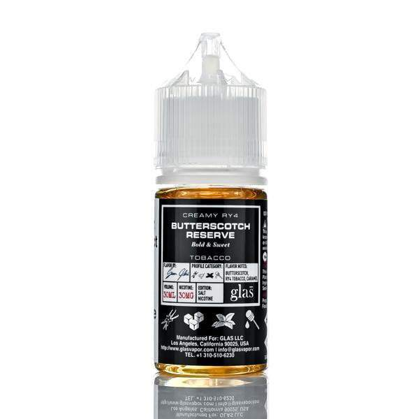 Glas Basix Salt Nic E-Liquid - Butterscotch Reserve - 30ml