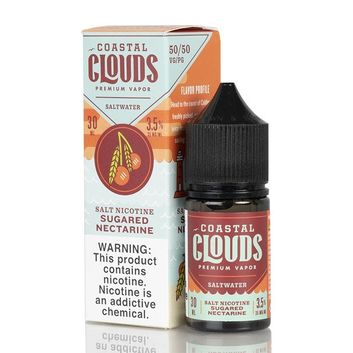 Sugared Nectarine SALTS - Coastal Clouds Co. - 30mL
