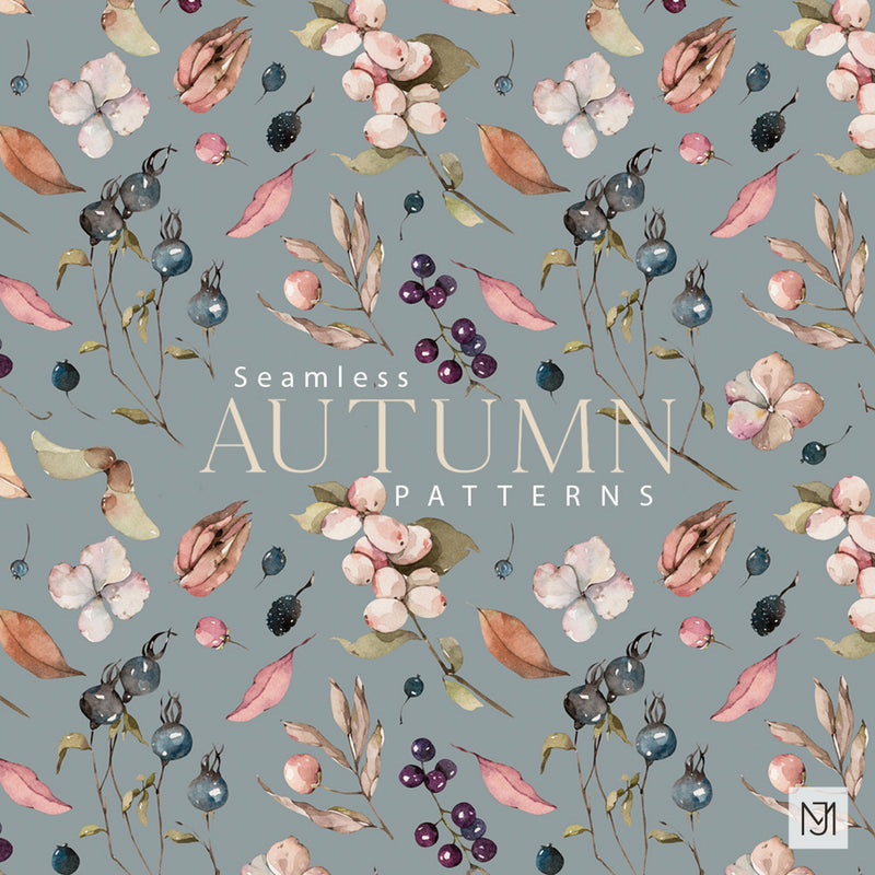 Autumn Fall Leaves Seamless Pattern - 040