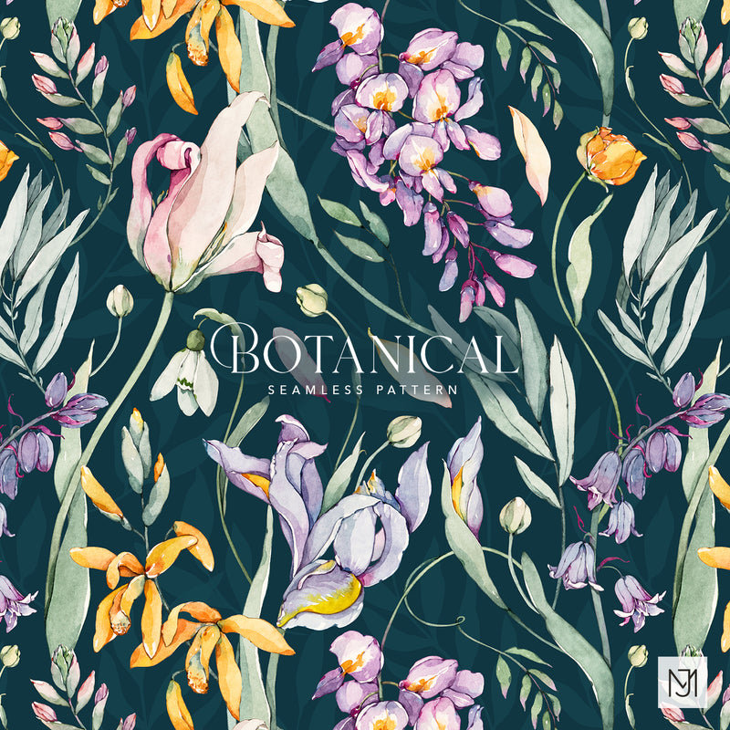 Botanical Seamless Pattern - 059