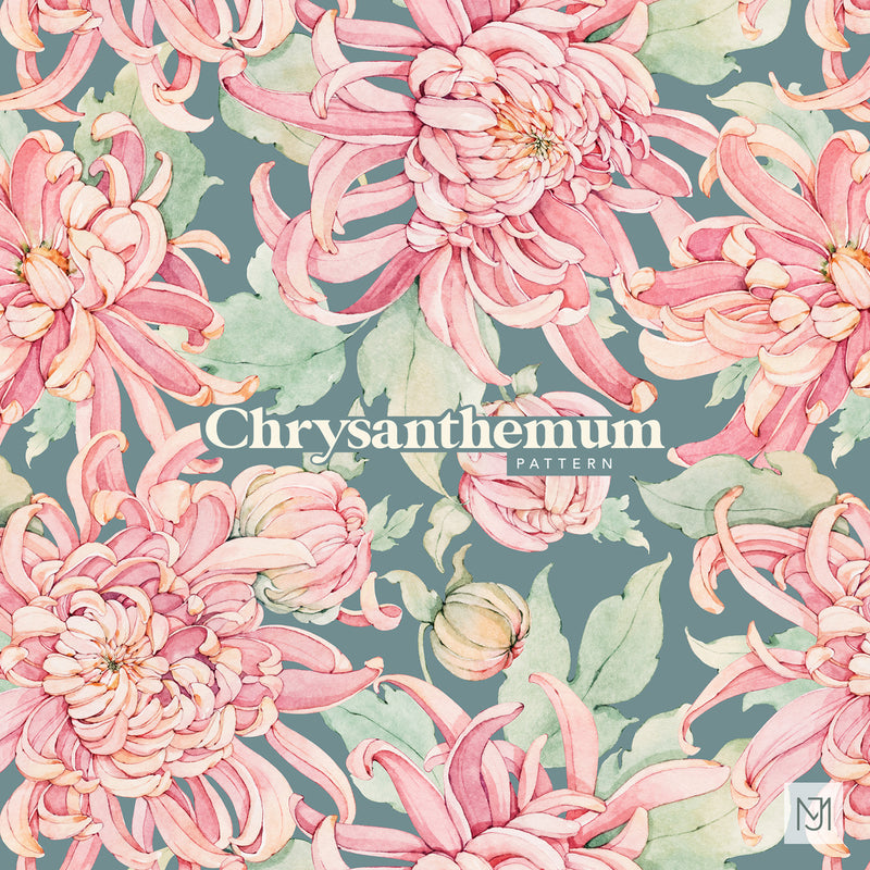 Chrysanthemum Seamless Pattern - 065