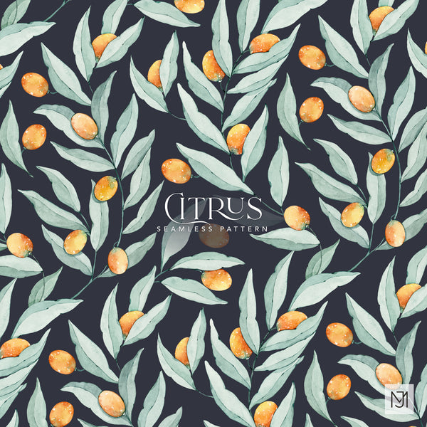 Citrus Seamless Pattern - 056