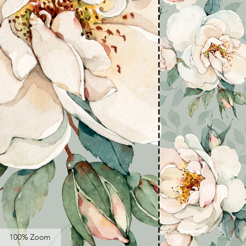 Watercolor Garden Roses Seamless Pattern - 058