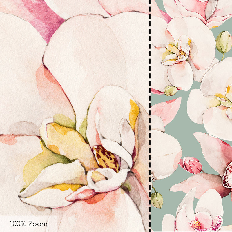 Orchids Seamless Pattern - 049