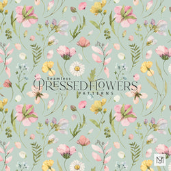 Pressed Flowers Seamless Pattern - 045