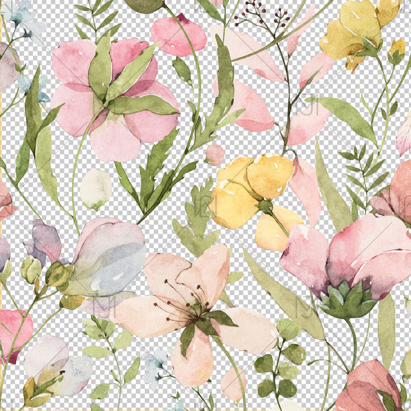 Spring Flowers Seamless Pattern - 046