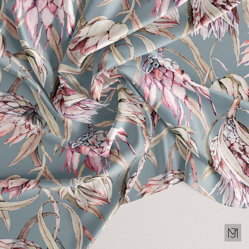 Tropical Protea Seamless Pattern - 048