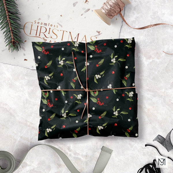 Christmas Winter Berries Seamless Pattern - 042