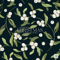 Christmas Winter Berries Seamless Pattern - 043