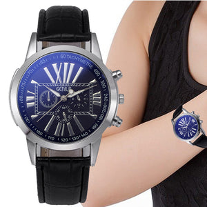Retro Digital Dial Leather Band Quartz Analog Wrist Watch Watches For women