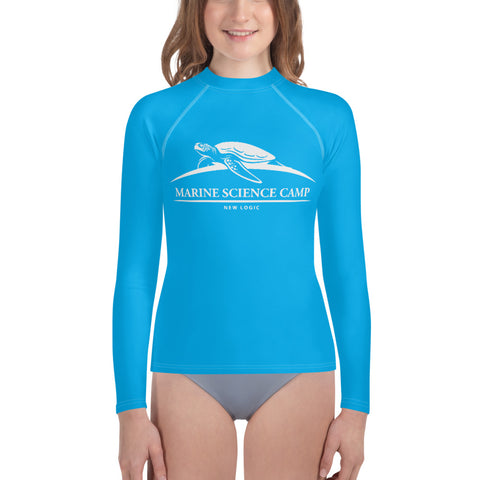 Youth Rash Guard Aqua