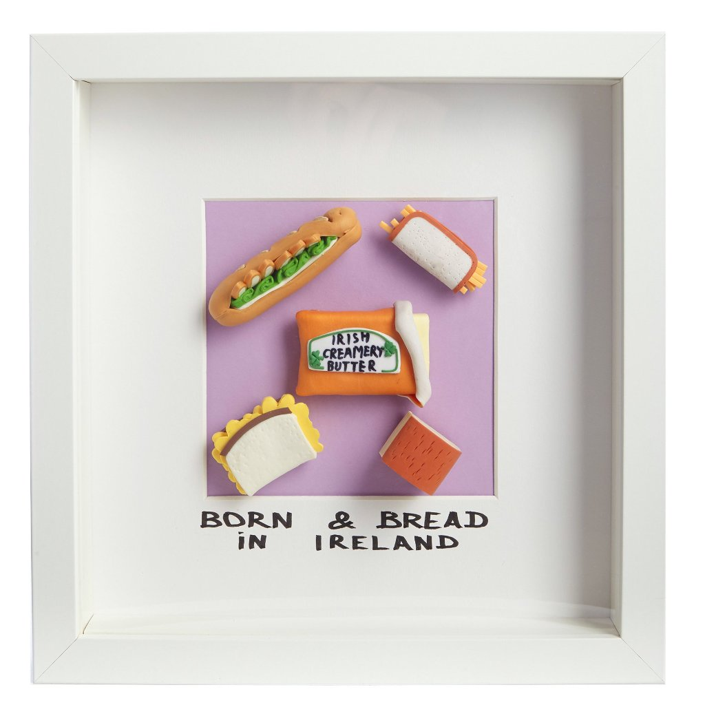 Born and Bread in Ireland - Framed Irish Gift