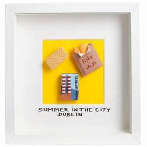 Summer In The City Dublin - Framed Irish Gift