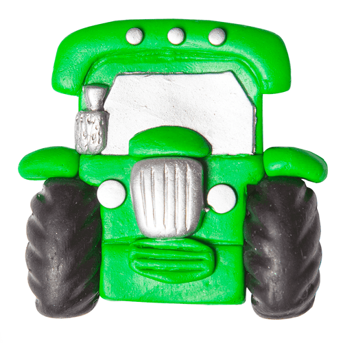 Green tractor clay fridge magnet - Irish handmade gifts