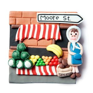 Moore street fridge magnet - handmade Irish gifts