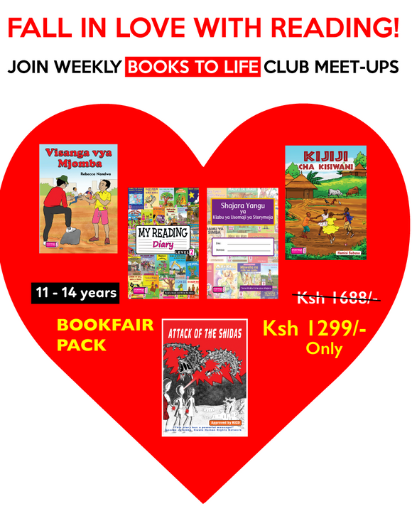 Books to life level 3 (11-14 years old) pack. English and Swahili
