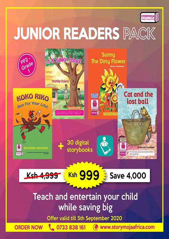 Junior Readers pack for PP2-Grade 1