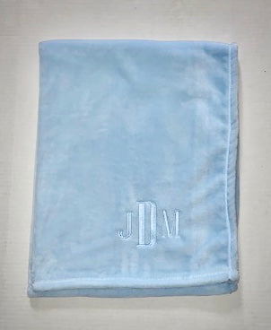 Classic Blue Baby Blanket