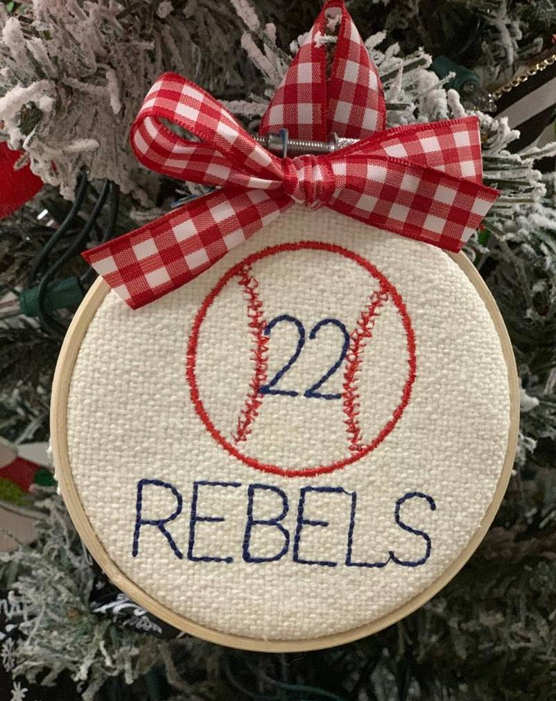 Personalized Baseball Hoop Ornament