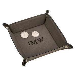 Men's Leather Valet Snap Tray 5""