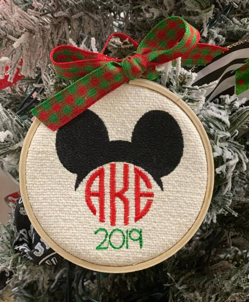 Personalized Mickey Hoop Ornament