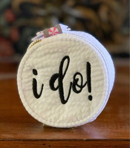 Mini Round Bag 'I Do'