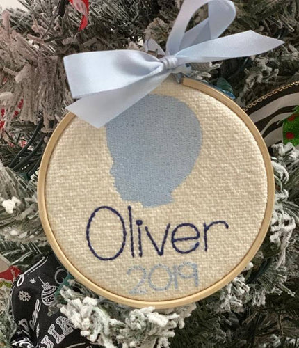 Personalized Silhouette Hoop Ornament
