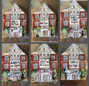 Sorority House Painted Block