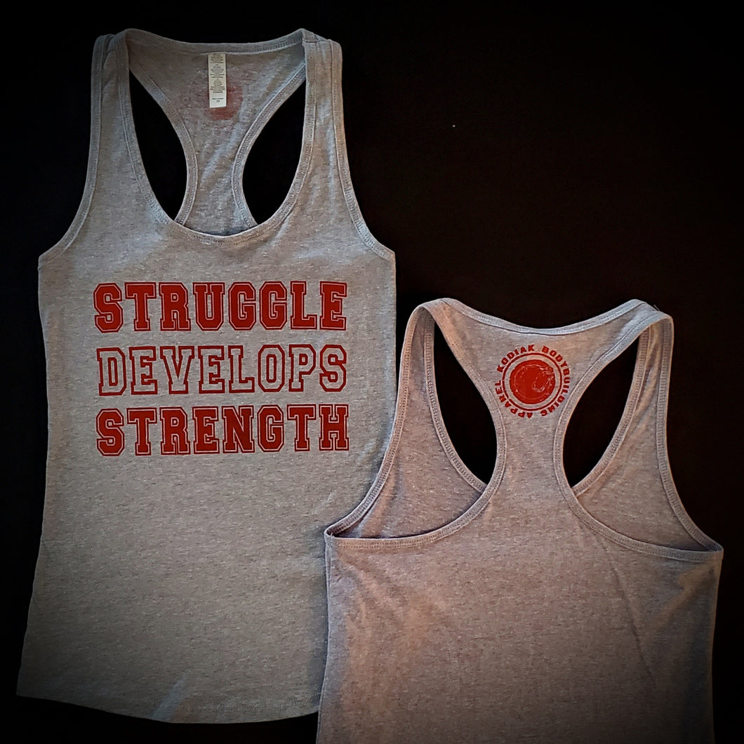 Struggle Develops Strength Ladies Tank