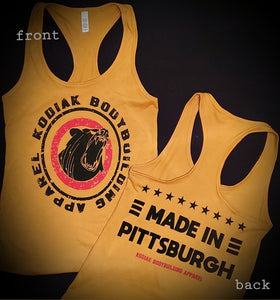 Made In Pittsburgh Ladies Tank (Vintage Gold)